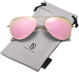 Classic Aviator Polarized Sunglasses for Men Women...