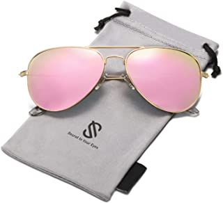SOJOS Classic Aviator Polarized Sunglasses Mirrored UV400 Lens SJ1054