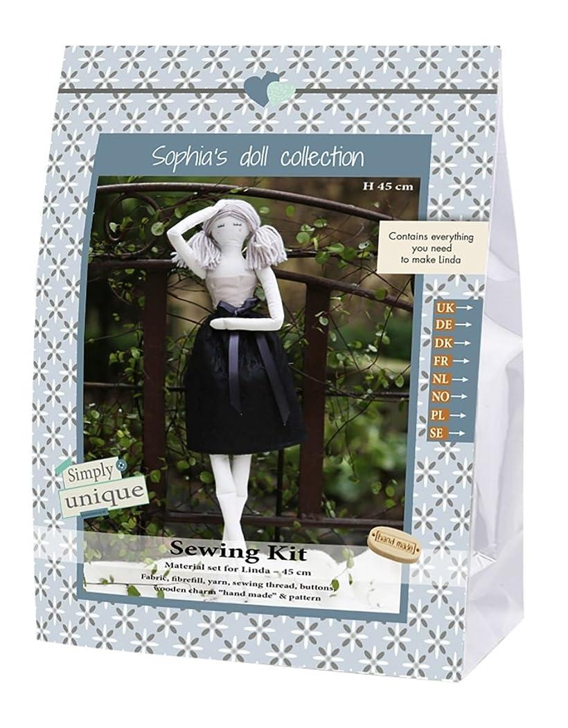 Go Hand Made 80137?Linda 1?Sewing Kit Cotton Beige/Black, 16?x 7?x 22?cm