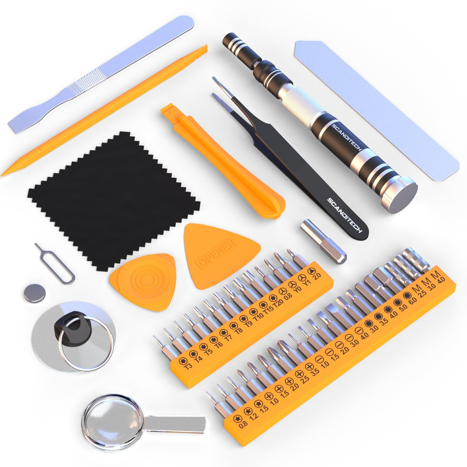 Tool Kit Small Precision Screwdriver Tools Set For Home Electronics Iphone Computers Macbook Pc Laptop Phone Ps4 Household Repair Magnetic Bits Basic Case Amazon Com