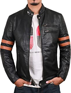جاكيت Laverapelle رجالي من جلد الخراف الأصلي (لون أسود، سترة راكب الدراجة) - 1501535