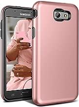 Galaxy J7 V Case,Galaxy J7 Prime Case,J7 Perx Case,J7V Case,J7 Sky Pro Case,Galaxy Halo Case, All Around Protection Hybrid Dual Layer Armor Phone Case Cover for Samsung Galaxy J7 2017, Rose Gold