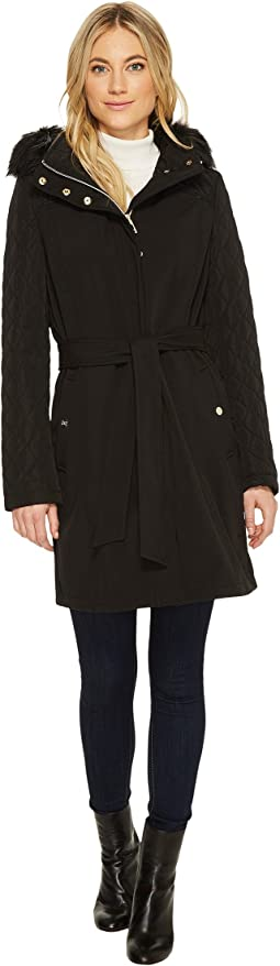 Ivanka Trump - Quilted/Shoftshell Belted w/ Faux Fur