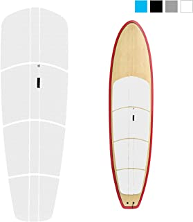 Abahub 12 Piece Surf SUP Deck Traction Pad Premium EVA with Tail Kicker 3M Adhesive for Paddleboard Longboard Surfboard Black/Blue/Gray/White
