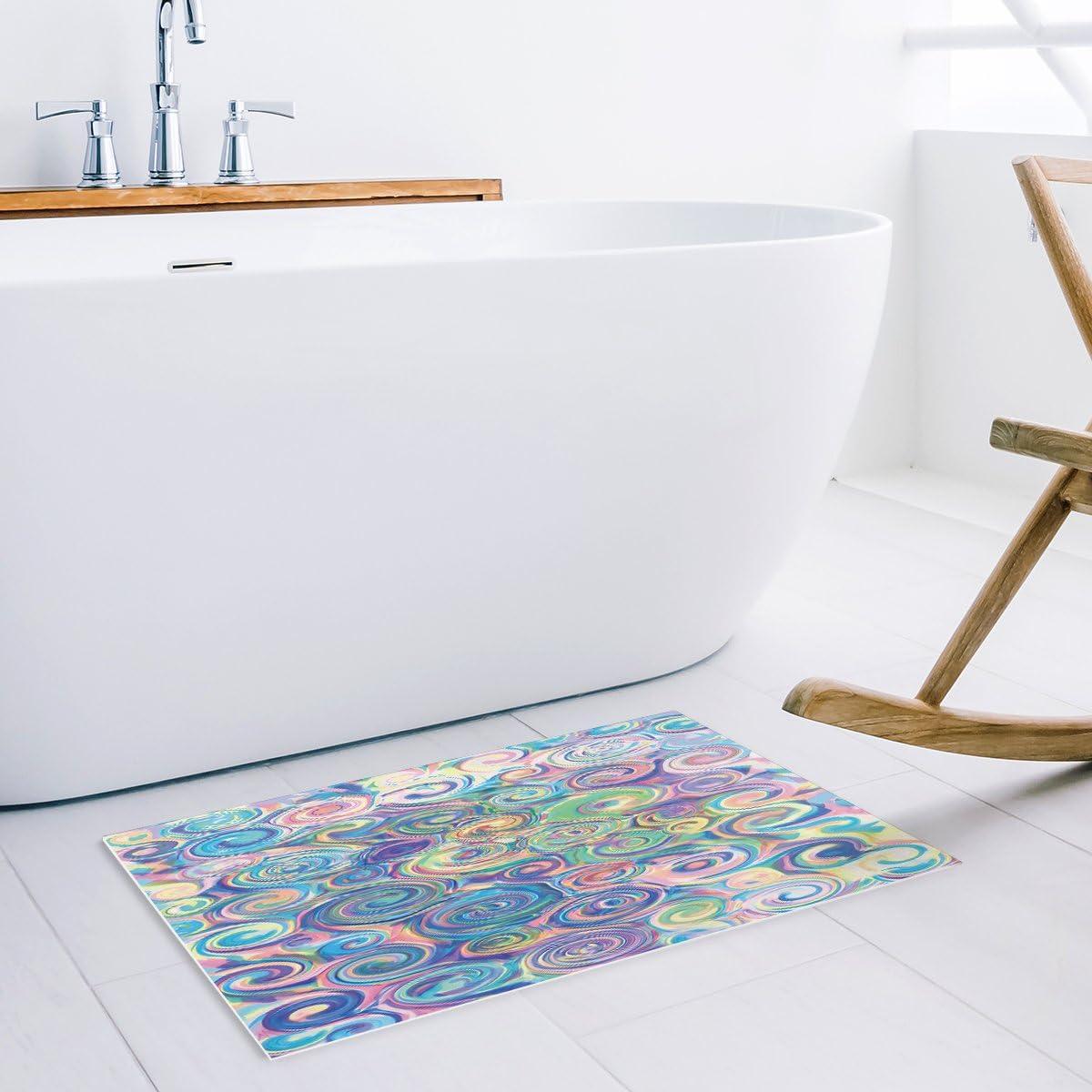 Colorful Tinte Vortex Malerei Kunst saugfähig Bad Teppiche für ...
