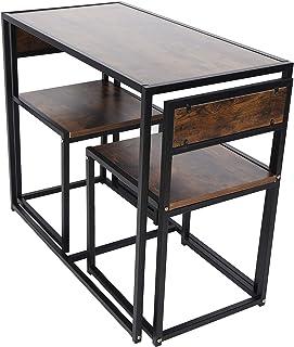Panneau de particules + fer accessoires de cuisine ensemble de table Table à manger Table de cuisine pour petits espaces s...