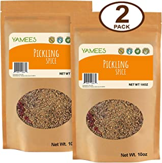 Yamees Pickling Spice – Pickling Spices – Pickling Spice Mix – Pickling Seasoning – Bulk Spices - 2 Pack of 10 Ounce - Pickled Seasoning