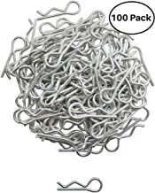 Apex RC Products 1/16 Small RC Car/Truck/Buggy Galvanized Steel Body Clips - 100 PACK 4025