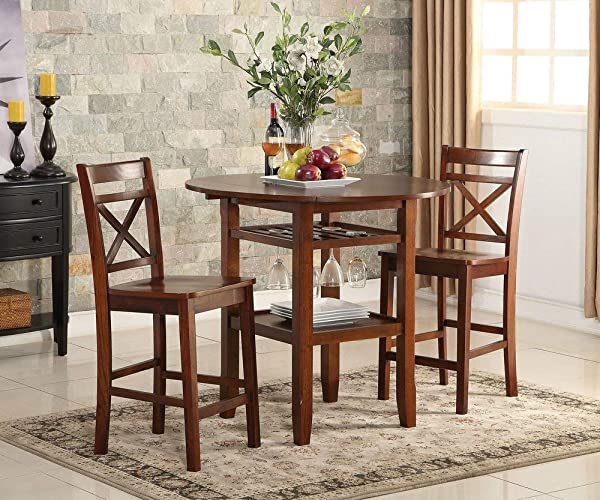 Acme Furniture 72537 Tartys Counter Height Chair Set Of 2 Cherry