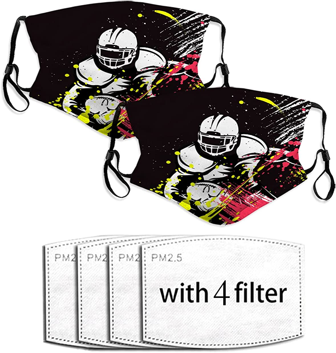 american football Dust Mask Reusable with Face Cotton Mouth Ranking Max 67% OFF TOP6