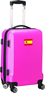 Countries of World Soccer Carry-On Hardcase Luggage Spinner, Pink