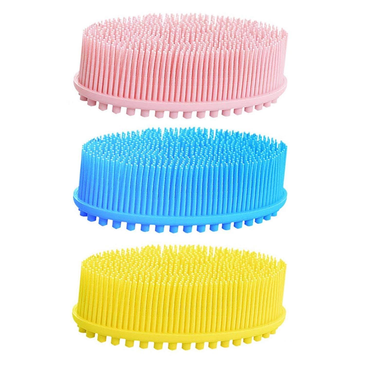 Silicone overseas Body Scrubber 3Pack Wash gift Brush