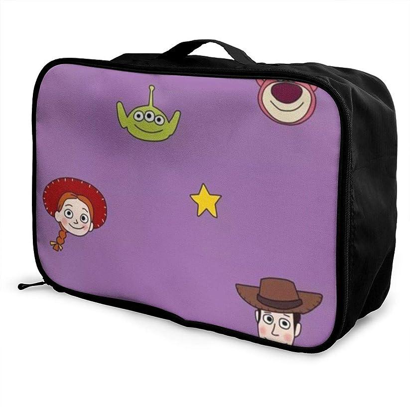 映画品揃えゴールボストンバッグ トイストーリー キャリーオンバッグ トラベルバッグ 大容量 厚手 丈夫 荷物 折りたたみ スーツケース固定可 旅行 出張 男女兼用 かわいい おしゃれ