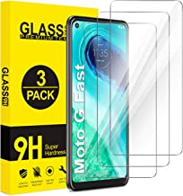 ivencase [3-Pack] Screen Protector for Moto G Fast,[9H Hardness] HD Transparent Scratch-Resistant [Bubble Free] Anti-Finge...