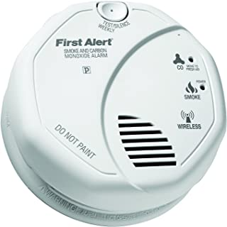 First Alert Z-Wave Smoke & Carbon Monoxide Detector Alarm | Battery Powered and Compatible with Ring Alarm Security System