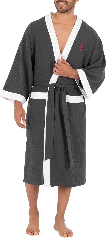 IZOD Men's lowest Tulsa Mall price Waffle Kimono Knit Robe