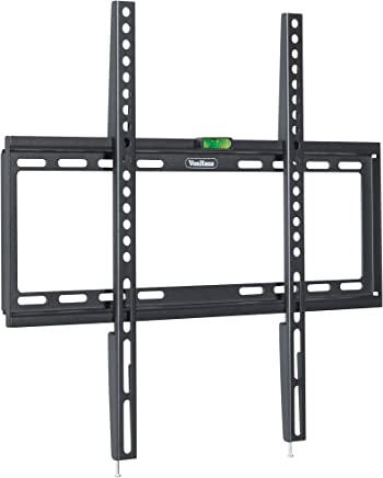 """VonHaus 32-55"""" Fixed TV Wall Mount Bracket with Ultra Slim Design for LED, LCD, 3D, Curved, Plasma, Flat Screen Televisions - Super Strong 35kg Weight Capacity"""