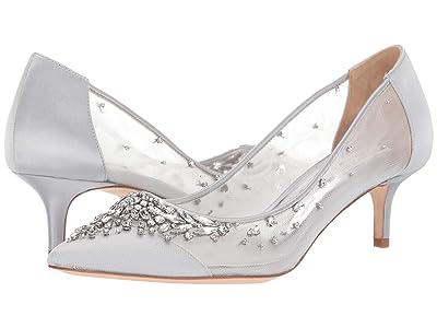 Badgley Mischka Onyx (Silver) High Heels