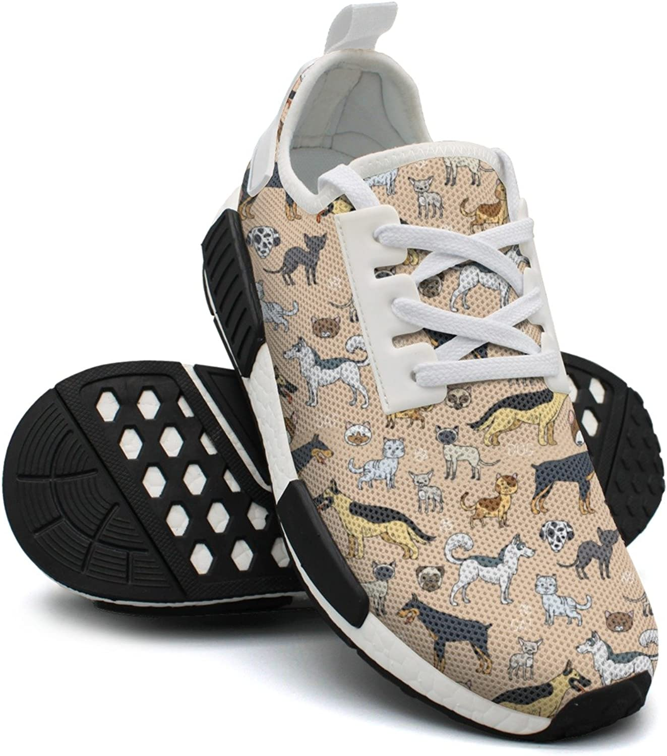 Cute Cats And Dogs colorful Running shoes Womens Nmd Casual Sport shoes