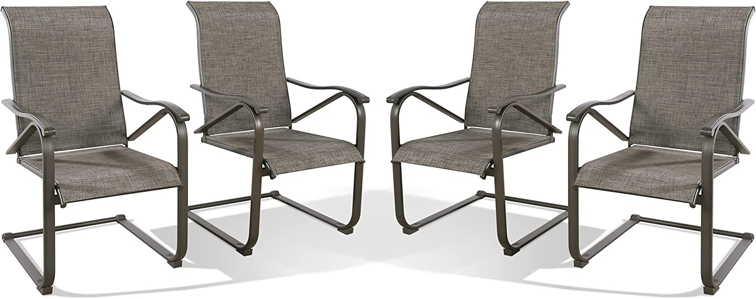 Patio C Spring Motion Dining Mesh Chairs Armchair Outdoor Ranking TOP9 Jacksonville Mall Fabric