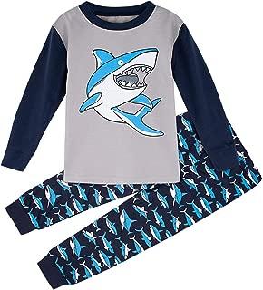 Kids Boys' Sailor Long Sleeve Pajamas Set, 100% Cotton, Shirt and Pants