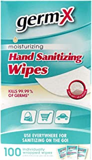 Germ-X Hand Sanitizing Wipes Singles 3 Boxes