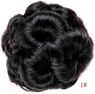 MAKEEN TSHIRT High Temperature Synthetic Fiber Curly Chignon Bun Hairpiece Elastic Fake Classic Hair Extensions For