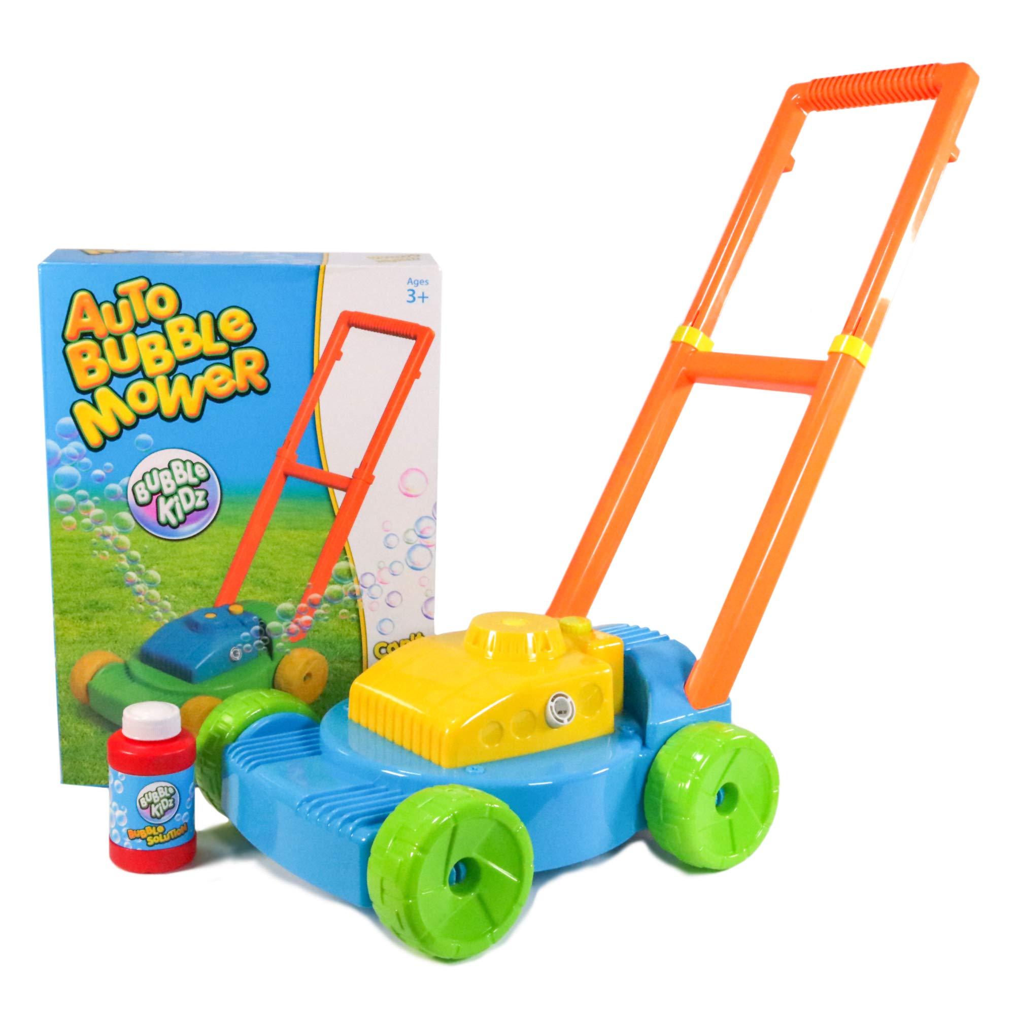 BUBBLE KIDZ Niños Cortacésped Burbujas Automático Máquina Soplador Jardín Fiesta Juguete Niños: Amazon.es: Juguetes y juegos