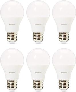 Amazon Basics Professional Lot de 6 ampoules LED Culot Edison à vis E27 Équivaut à 40W Blanc chaud