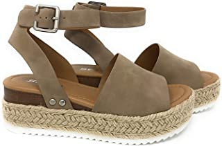 Soda Women's Shoes Clip Open Toe Casual Platform Sandals