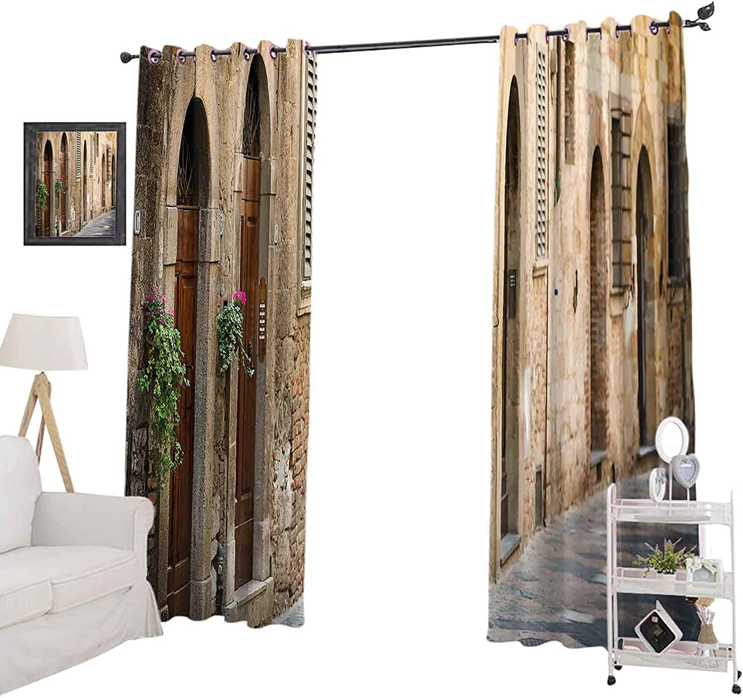 Blackout Curtains Max 82% OFF for Easy-to-use Bedroom 63 Pane Window Inches Curtain Long