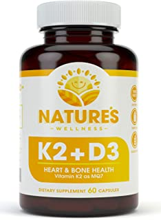 Sponsored Ad - Vitamin K2 (mk7) with D3 Supplement for Best Absorption - 2-in-1 Support for Heart Health and Strong Bones ...