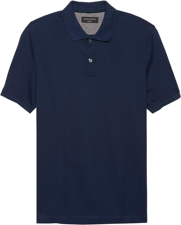 Banana Republic Factory Men's 446500 Solid Dress Polo Shirt