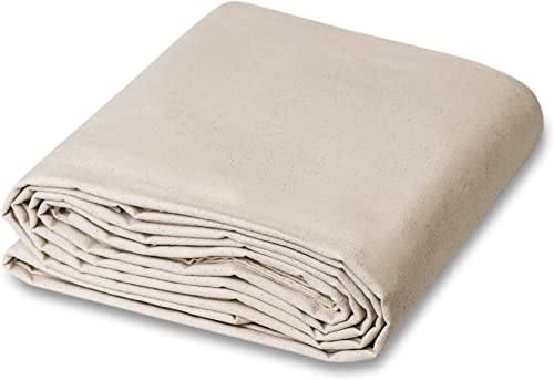 CCS CHICAGO CANVAS & SUPPLY All Purpose Canvas Cotton Drop Cloth, 14 by 16 Feet (Available in 10 More Sizes)