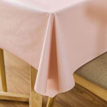 pink wipe clean tablecloth