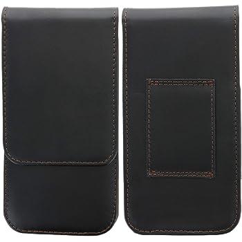 MoEx Leichte Handytasche mit doppelter G/ürtel-Schlaufe f/ür Motorola Moto G7 Plus Schwarz Stifthalterung Klettverschluss und Karabinerhaken Inkl