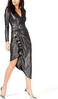 GUESS Women's Long Sleeve Riviera Maxi Dress Dress, Jet Black/Multi, XL