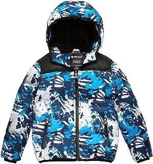 Wantdo Boy's Winter Coat Waterproof Puffer Jacket Thick Padded Outwear with Hood