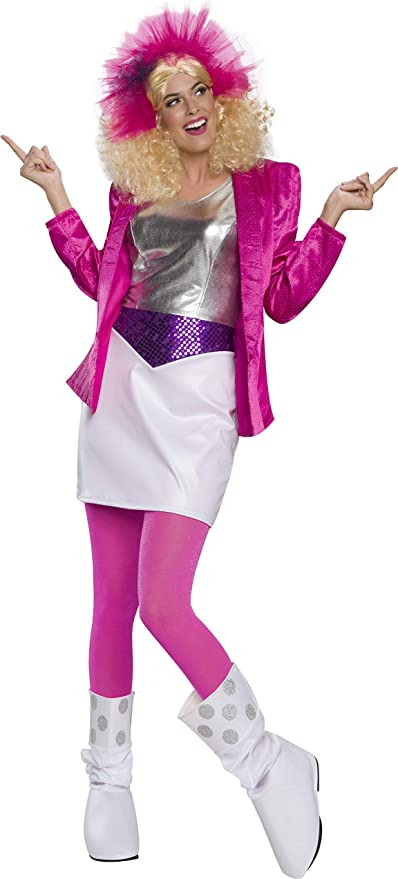 80s Costumes, 80s Clothing Ideas- Girls Rubies Womens Deluxe Rocker Barbie Costume  AT vintagedancer.com