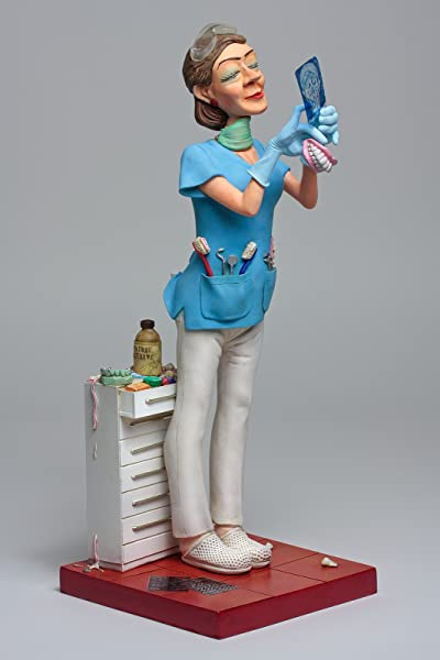 Guillermo Forchino Figurine FO84012 Dentista Figurine Made Of Resin Multi Coloured 20 X 10 X 22 5 Cm