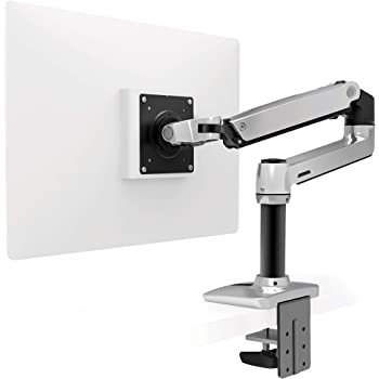 Ergotron – LX Desk Monitor Arm – 25-Inch Extension, Polished Aluminum