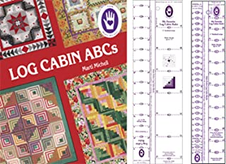 Marti Michell Log Cabin Quilting Rulers and Quilting Book Bu