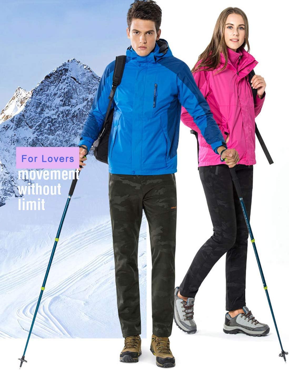 LY4U Frauen Outdoor wasserdichte Softshell Fleece Gef/ütterte Hose Wandern Skifahren Camping Winddichte Hosen f/ür Herbst//Winter//Fr/ühling