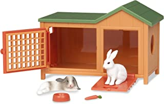 Terra by Battat – Bunny Hutch – Bunny Rabbit Toy Animal Figure Playset for Kids 3-Years-Old & Up (5 Pc)