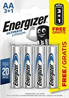 Energizer AA/L912900.0mAh Ultimate Baterías de Litio (Pack de 4)