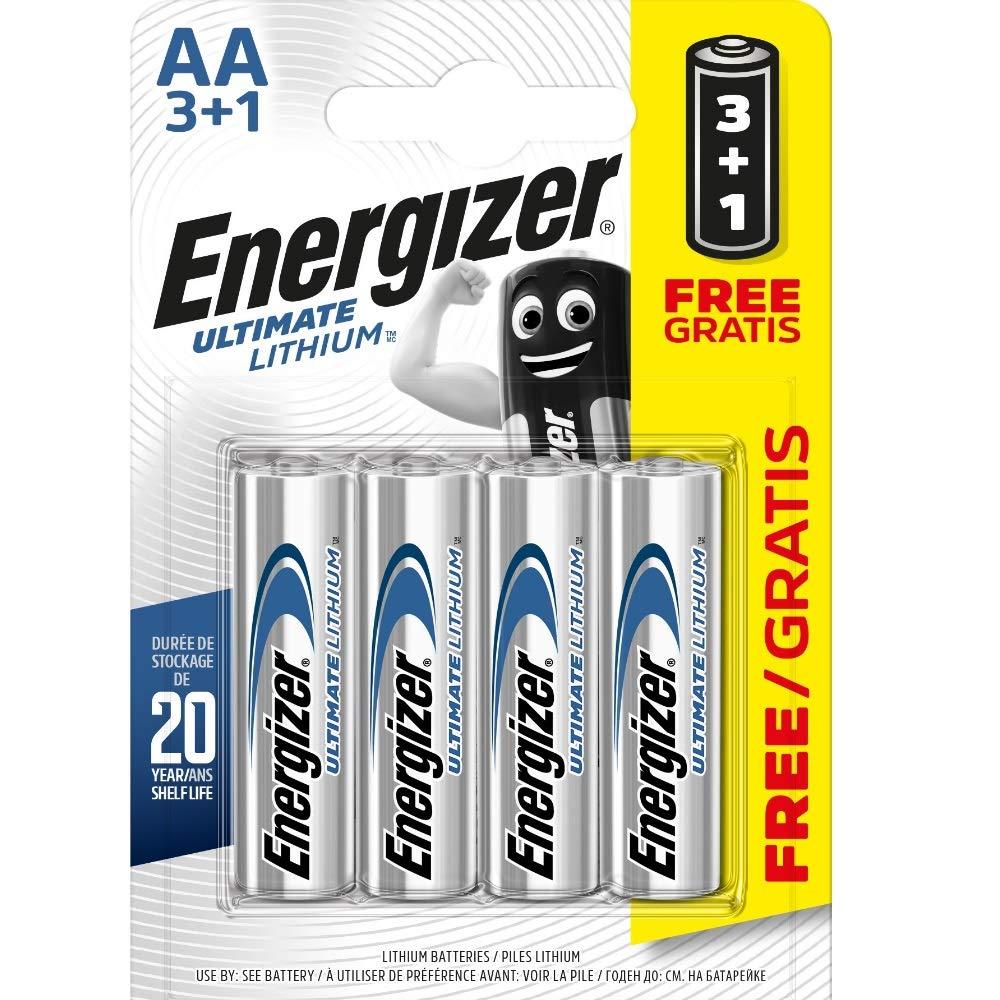 Energizer AA/L91 2900.0 mAh Ultimate Baterías de Litio (Pack de 4): Amazon.es: Electrónica