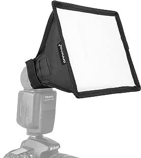 "6x7"" Flash Softbox, pangshi Light Diffuser Speedlite Translucent Soft Box Compatible with Nikon SB-600 SB-800 SB-900 Canon 380EX 430EX 550EX 580EX Vivita Flash Sunpack Nissin Sigma Sony"