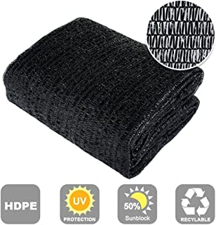 Agfabric 50% Sunblock Shade Cloth Cover with Clips for Plants, 10x20ft Black