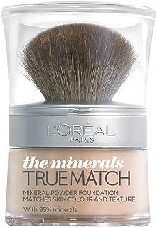 L'Oréal Paris - True match minerals foundation, base de maquillaje en polvo, tono w4, Golden Natural, 10 g