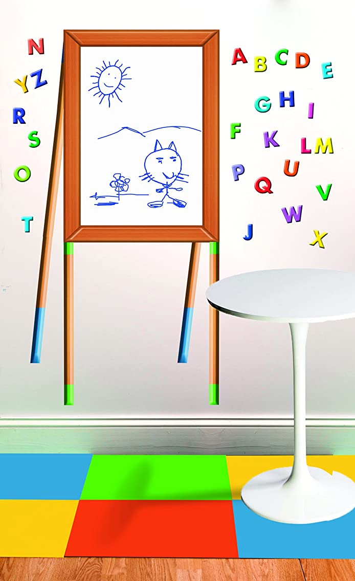 Wallies 16063 Peel and Stick Dry Erase Easel